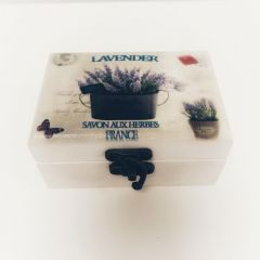 Cutiuta de bijuterii Lavender personalizata