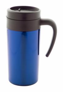 Cana termoizolanta personalizata albastra 350 ml