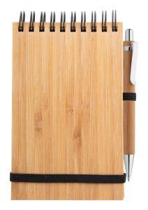 Set notebook si pix din bambus