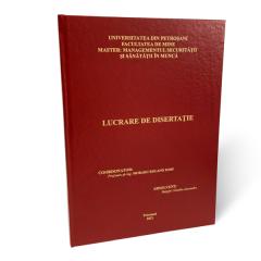Copertare/Legare/Tiparire Lucrare de licenta, doctorat, disertatie - clasica
