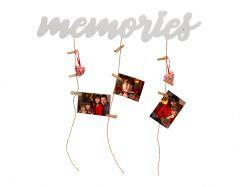 Rama foto personalizata MEMORY STRINGS alb