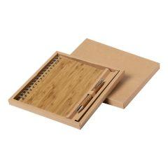 Set pix si notes personalizat Hecan din bambus