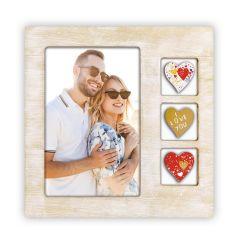 Rama foto din lemn personalizata cu poza 10x15 cm Lisa verticala