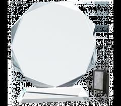 Trofeu gravat din cristal in cutie de prezentare mare
